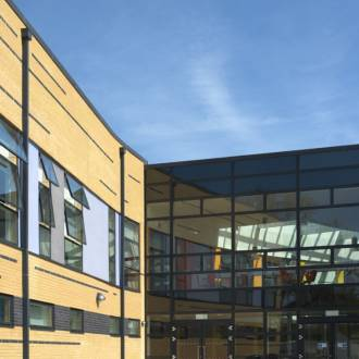VELFAC V200i Aluwood Windows and Aluclad Windows and Doors School