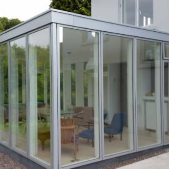 VELFAC Alu wood Windows Sunroom - Cork