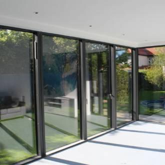 VELFAC V200 Aluwod Sliding Doors Internal Sunroom View