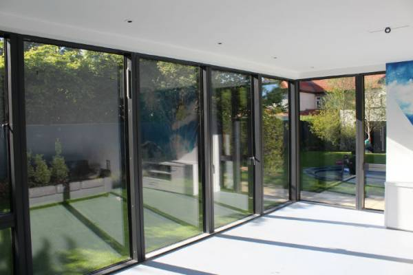 VELFAC V200 Aluwod Sliding Doors Internal Sunroom View